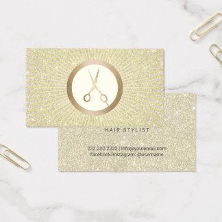 De gouden Moderne Kapper van de Schaar schittert Visitekaartjes