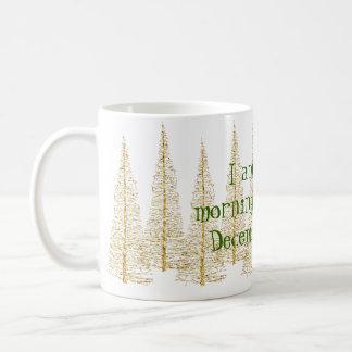 De gouden Mok van de Vroege vogel van Kerstbomen Koffiemok