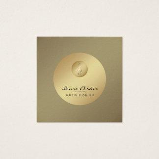 De Gouden Musicus van de Muzieknoot van de Leraar Vierkante Visitekaartjes