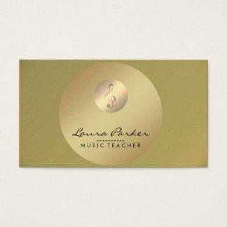 De Gouden Musicus van de Muzieknoot van de Leraar Visitekaartjes
