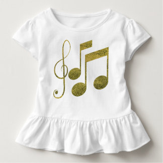 De gouden Nota's van de Muziek Kinder Shirts