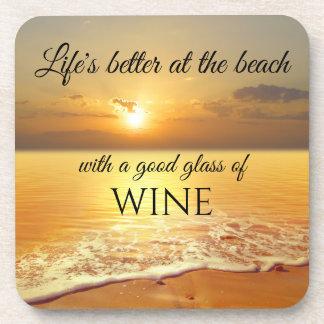 De gouden Onderzetters van de Wijn van het Strand