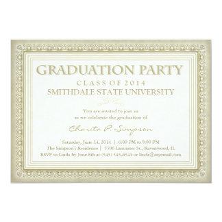 De gouden Partij van de Afstuderen van het Diploma 12,7x17,8 Uitnodiging Kaart