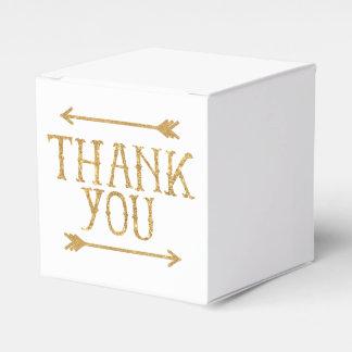 De gouden Pijlen danken u de Klantgerichte Doos Bedankdoosjes