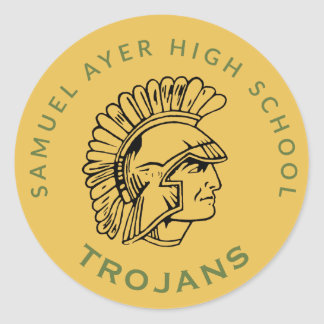 De gouden Retro Trojan Sticker van de Bijeenkomst