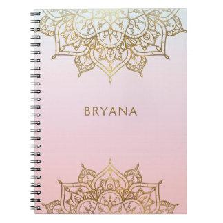 De gouden Roze Elegante Glamour Moderne Glam van Notitieboek