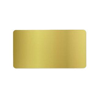 De gouden Rug van de Sjabloon past aan Etiket