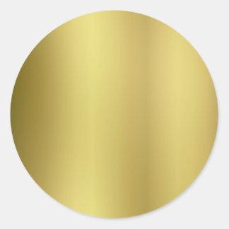 De gouden Rug van de Sjabloon past aan Ronde Sticker