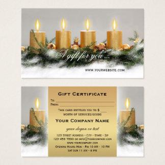 De gouden Sjabloon van het Certificaat van de Gift Visitekaartjes