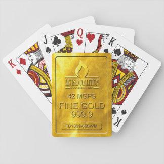 De gouden Speelkaarten van de Bar