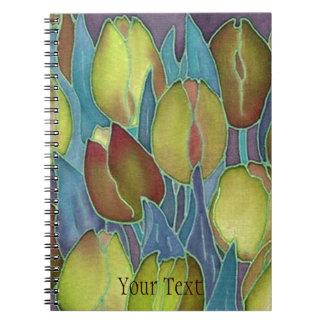 De gouden Spiraal van Tulpen - het verbindende Ringband Notitieboek