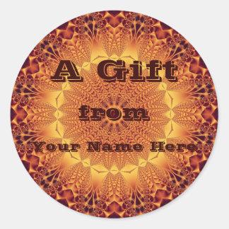 De gouden Sticker van de Gift van het Satijn