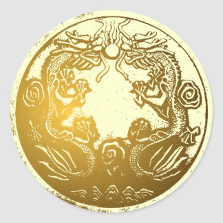 De gouden sticker van de Verzegelaar van de