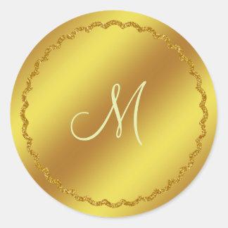 De gouden Sticker van het Monogram van de Folie