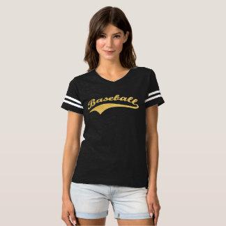 De gouden Tekst van het Honkbal T Shirts