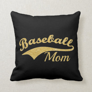 De gouden Tekst van het Mamma van het Honkbal Sierkussen