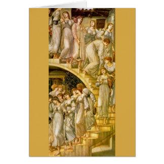 """De """"gouden Treden"""", door Edward Burne-Jones Briefkaarten 0"""