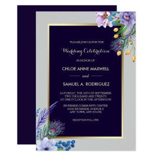 De gouden Uitnodiging van het Huwelijk Boho van