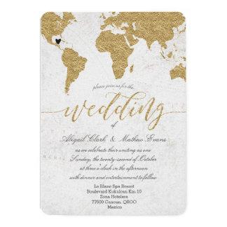 De gouden Uitnodiging van het Huwelijk van de