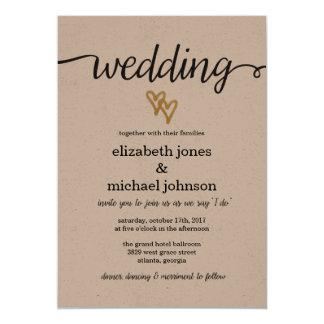 De gouden Uitnodiging van het Huwelijk van het