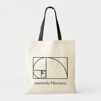De gouden verhouding van Fibonacci - uniek Draagtas