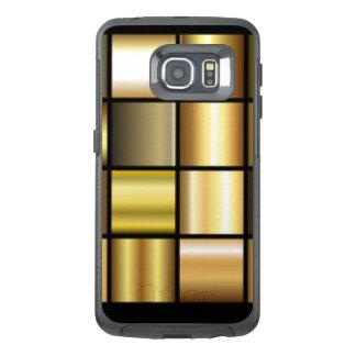 De gouden Vierkante Collage van de Druk van het OtterBox Samsung Galaxy S6 Edge Hoesje