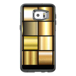 De gouden Vierkante Collage van de Druk van het OtterBox Samsung Galaxy S6 Edge Plus Hoesje