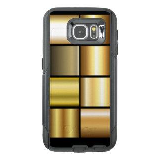 De gouden Vierkante Collage van de Druk van het OtterBox Samsung Galaxy S6 Hoesje