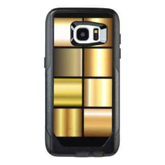 De gouden Vierkante Collage van de Druk van het OtterBox Samsung Galaxy S7 Edge Hoesje