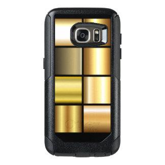De gouden Vierkante Collage van de Druk van het OtterBox Samsung Galaxy S7 Hoesje