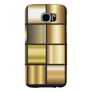 De gouden Vierkante Collage van de Druk van het Samsung Galaxy S6 Hoesje