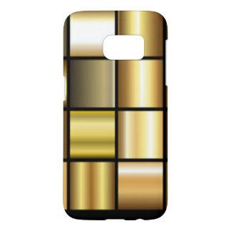 De gouden Vierkante Collage van de Druk van het Samsung Galaxy S7 Hoesje