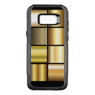 De gouden Vierkante Collage van het Patroon OtterBox Commuter Samsung Galaxy S8+ Hoesje