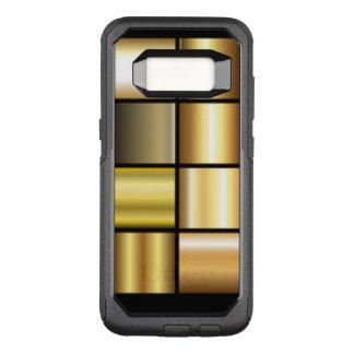 De gouden Vierkante Collage van het Patroon OtterBox Commuter Samsung Galaxy S8 Hoesje