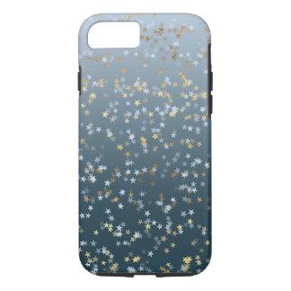 De gouden Witte Blauwe Sterren glanzen Helder iPhone 8/7 Hoesje