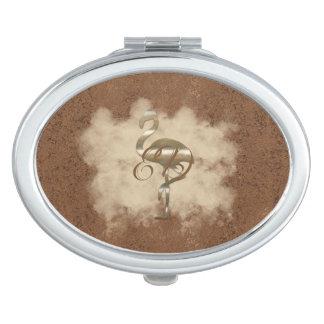 De gouden Wolk van de Flamingo voegt de Spiegel Makeup Spiegels