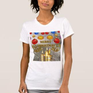 De gouden & Zilveren Kaarsen van Kerstmis & T Shirt