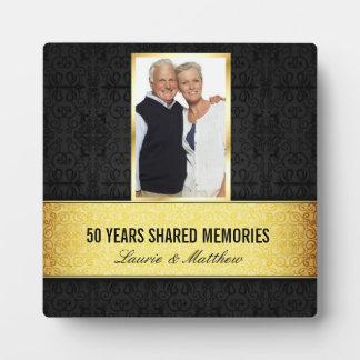 De gouden Zwarte Foto van het Damast ontwerpt 50st Fotoplaten