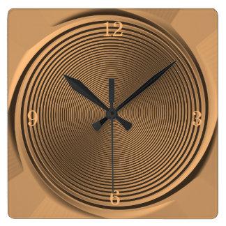 De gouden/Zwarte Klok van het Ontwerp >Wall van de Vierkante Klok