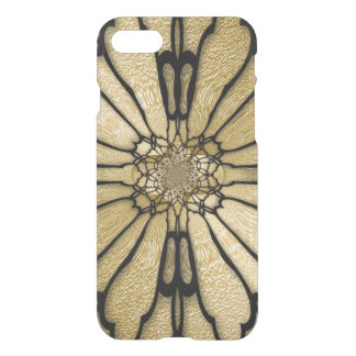 De gouden Zwarte Optische illusie van de Vleugels iPhone 8/7 Hoesje