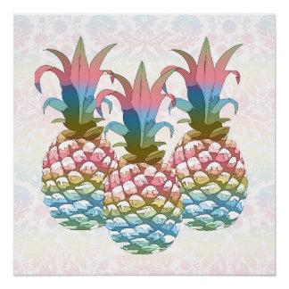 De Gradiënt ID246 van de Pastelkleur van de ananas Poster
