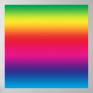 De Gradiënt van de regenboog Poster