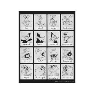 De Grafiek van de Emotie van het Karakter LOONEY Canvas Print