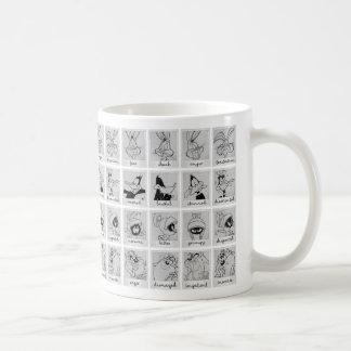 De Grafiek van de Emotie van het Karakter LOONEY Koffiemok
