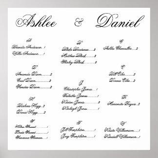 De Grafiek van de Plaatsing van het huwelijk Poster