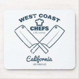 De grafiekdruk van de T-shirt van chef-koks Muismat