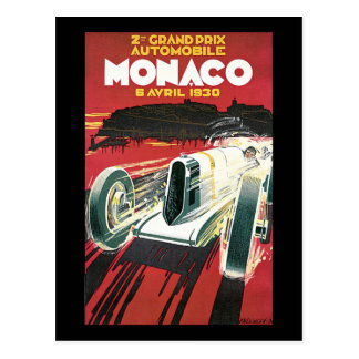 De Grand Prix 1930 van Monaco Briefkaart