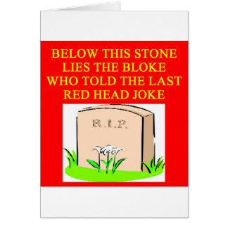 De grap van de ROODHARIGE Briefkaarten 0