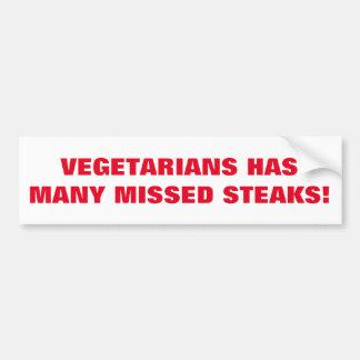 De grap van vegetariërs die op sticker wordt