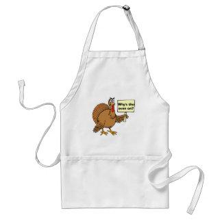 De Grappen van Turkije voor Thanksgiving Standaard Schort